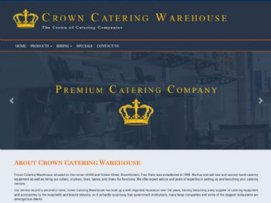 Crown Catering Warehouse<br><a href='http://www.crowncatering.co.za' target='_blank'><small>www.crowncatering.co.za</small></a>