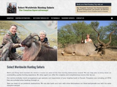 Select Hunting Safaris<br><a href='http://www.selectworldwidehuntingsafaris.com' target='_blank'><small>www.selectworldwidehuntingsafaris</small></a>